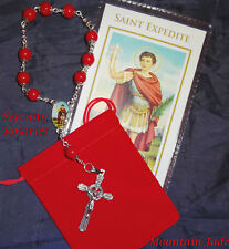 St. Expedite Chaplet in Mountain Jade. Patron St of Emergencies & Urgent Causes