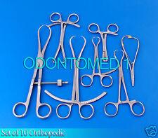 Set Of 10 Pcs Orthopedic Surgical Instruments