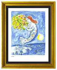 "Marc Chagall Signed & Hand-Numberd Ltd Ed ""Bay of Angels"" Litho Print (unframed)"
