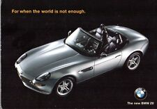 BMW Z8 Roadster 1999 UK Market Postcard Brochure James Bond World Is Not Enough