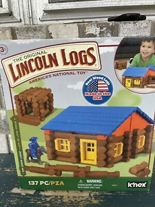 Knex 00857 Lincoln Logs Oak Creek Lodge 135 Pieces Gently Used Orig  Bags