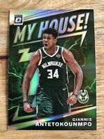 2019-20 Optic Giannis Antetokounmpo My House Silver Holo Prizm Milwaukee Bucks