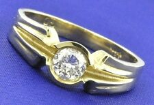 0.53 ct 14k Solid Yellow Gold Ladies Natural Diamond Solitaire Ring Made in USA
