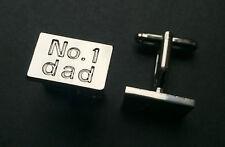 No. 1 DAD  Cuff Link Mens Fathers Day Gift Grandad Birthday Present Daddy