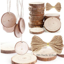 20pcs Unfinished Natural Round Wood Slices Circles Discs for DIY Crafts Dia6-7cm