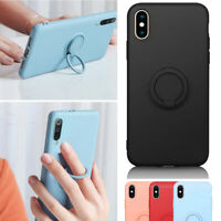 Soft Silicone Case For iPhone XS Max Ring Holder Shockproof Cover Ultra Slim New