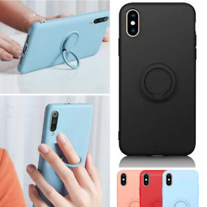 Soft Silicone Case Magnet Ring Holder Shockproof  Cover For iPhone 8 iPhone 7