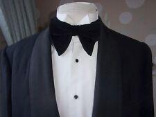 Mens Very Large Black vintage style Retro 70's Velvet adjustable double Bow Tie