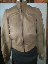Zara Woman Beige Leather Jacket Size M