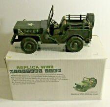 """Leapers Inc World War II 2 Replica 12"""" Tin ? Metal Willys Jeep gif-ww2jp1 w Box"""