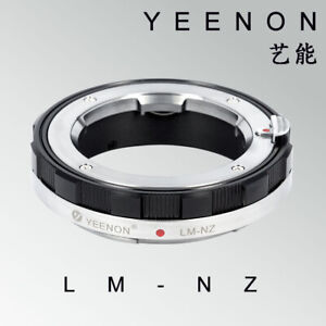 YEENON Leica LM  VM  lens to Nikon Z camera STANDARD adapter Black