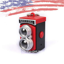 New Mini Digital LOMO Camera LED Light Flashlight Sound Keychain Key Ring - Red