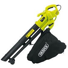 Draper 3000w 230v Electric Garden Leaf Grass Mulcher Blower Hoover Vacuum Vac