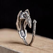 I13 Ring Drachenklaue Sterling Silber 925 größenverstellbar Drache