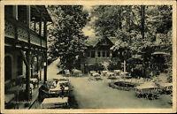 Meixmühle bei Pillnitz Ansichtskarte ~1925 Waldpartie am Biergarten Personen