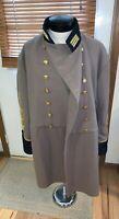 Vintage wool CIVIL WAR RE-Enactor CONFEDERATE Officer Grey FROCK Overcoat repro