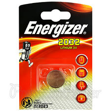 1 x Energizer Lithium CR2032 battery 3V Coin cell DL2032 Alarms Watch EXP:2023