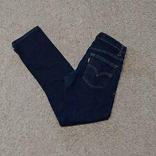 LEVI'S Performance Slim 511 Kids Boys Jeans Size 12 26x26 Dark Wash Blue