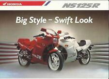 HONDA NS125R MOTORBIKE SALES 'BROCHURE' SHEET EARLY 90's????