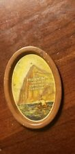 vintage metal Oval Prudential Insurance Gibraltar Coin Change Tray