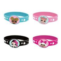 LOL SURPRISE PACK OF 4 BRACELETS PARTY FAVOURS NEW GIFT
