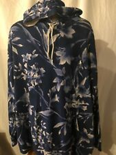 New Polo Ralph Lauren Big and Tall Floral Hoodie 3XB 3X 3XL Blue