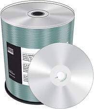 100 MediaRange CD-R 52x 700Mb 80Min SILVER Inkjet Printable Silber Bedruckbar