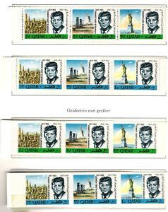 Qatar  6 + 6 Kennedy Erinnerungsmarken  Mi - Nr. 128 - 133 A + B postfrisch