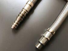 Pair of Flexible Stainless Steel Caravan Tap Hose Connectors M10 x 7 x 300mm L