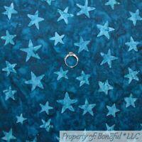 BonEful Fabric FQ Cotton Quilt Navy Blue Star Tone Tonal American Flag USA Water