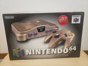 NEW Nintendo 64 GOLD Console System N64 Japan *COLLECTORS ITEM - GOOD BOX*