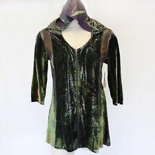 NEW One World Plus Velvet Fall Winter Zip Hoodie Sweater Blouse Top Jacket 1X
