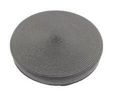 Alfresco Woven Circular Seat Pad, Charcoal Grey Floor Cushion Indoor Outdoor