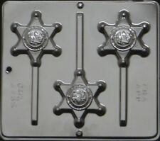 Sheriff Badge Lollipop Chocolate Candy Mold 3455 NEW