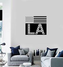 Vinyl Decal Wall Sticker Mural American Flag Los Angeles LA Decor (g109)