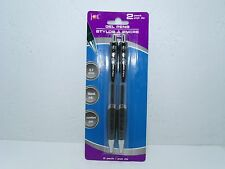 JOT Gel Pens 0.7 mm, Black Ink, Comfort Grip, 2 pack Retractable Writing Utensil
