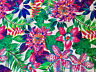 TROPICAL FLOWER ORCHID Cotton Fabric Curtain Upholstery Material 140cm wide Pink
