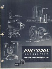 Vintage 1955 Precision Test Equipment Brochure Electronics Tube Testers , Meter