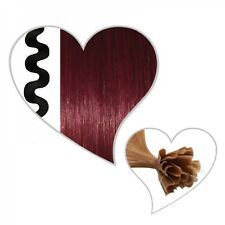 25 ondulé Mèches vin rouge #35, 55 cm, indien Cheveux Remy ondulé, 55cm