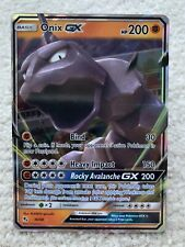 Onix GX Holo Hidden Fates Pokemon Card 36/68 Mint