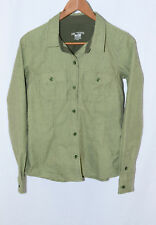 ARC'TERYX green Tavla 2-pocket twill anatomical fit button-front shirt S