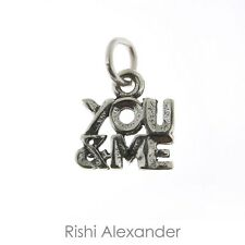 925 Sterling Silver You & Me Love Freind Charm Made in USA