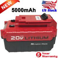 5.0Ah MAX 20V LITHIUM Battery for Porter Cable PCC685L PCC682L PCC680L PCC685LP