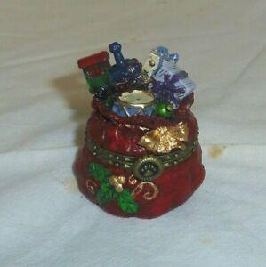 Mr Kringle's Bag of  Goodies Boyds Bearstone treasure trinket box NRFB 4028418