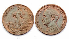 1 Centesimo 1910 R. Italie/ Italia. Vittorio Emanuele III°. Bronze. SUP-SPL