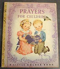 Prayers for Children by Rachel Taft Dixon A Little Golden Book LGB 1942 S Print