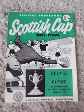 Scottish Cups Final Football International Fixture Programmes
