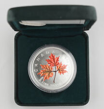 Canada 2001 Colored 1 Oz 9999 Silver Maple Leaf Coin +BOX GEM