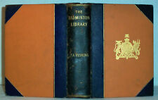 1895 Leather Saltwater FISHING Angling WHALING Fly Fishing Yacht Fishes Sailboat