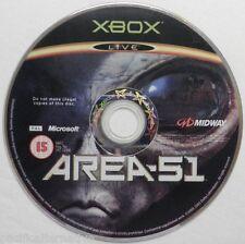 jeu seul AREA 51 sur xbox microsoft game spiel juego loose vintage action #1